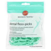 Disposable Flossers with Gum Simulator and Pick. Easy to Use, Shred Resistant Floss, Raised Grips for Better Control.