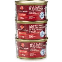 Western Family - Wild Pacific Sockeye Salmon, 3 Each