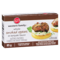 Western Family - Whole Smoked Oysters in Teriyaki Sauce