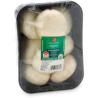 Western Family - Fresh Organic Mushrooms - White Stuffers, 454 Gram