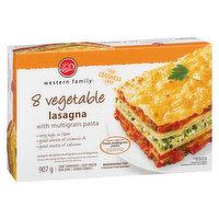Western Family - 8 Vegetable Lasagna With Multigrain Pasta, 907 Gram