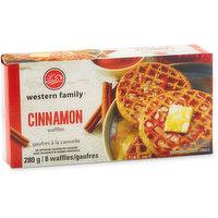 8 Frozen Artificially Flavoured Cinnamon Waffles