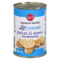 Western Family - Mushrooms - Pieces & Stems No Salt Added