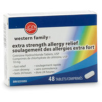 Western Family - Extra Strength Allergy Relief - 48 tablets, 48 Each