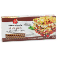 Western Family - Whole Grain Whole Wheat Lasagne, 375 Gram