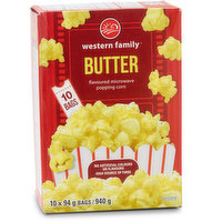 Western Family - Butter Flavour Microwave Popcorn