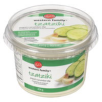 Yogurt cucumber dip. No Artificial color or flavors. Delicious with crackers, pita bread, vegetables, meat & more!