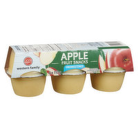 Western Family - Unsweetened Apple Snack Cup, 6 Each