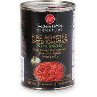 Western Family - Diced Tomatoes - Fire Roasted with Garlic