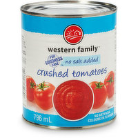 Western Family - Tomatoes - Crushed No Salt, 796 Millilitre