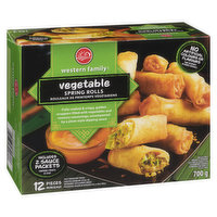 Frozen Crispy, Golden Wrappers Filled with Vegetables, Vermicelli and Savoury Seasoning Accompanied by a Plum Style Dipping Sauce. Trans Fat Free, Heat and Serve in 20 Minutes!