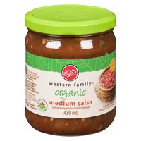 Western Family - Organic Salsa Medium, 430 Millilitre