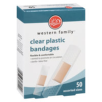 Western Family - Clear Plastic Bandages Assorted
