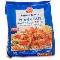 Western Family - Plank Cut Sweet Potato Fries, 454 Gram
