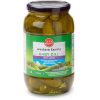 Western Family - Baby Dill Pickles with Garlic - 50% Less Sodium