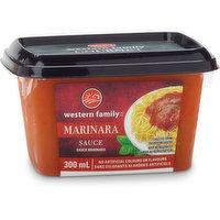 Western Family - Marinara Sauce, Fresh, 300 Millilitre