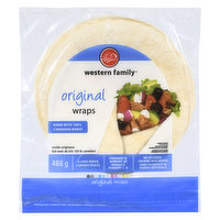 Made with 100% Canadian wheat. No artificial colors or flavors. 8 large wraps. Produced in Burnaby, B.C.