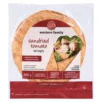 8 - 10 inch large wraps. Made with no trans fat, cholesterol, artificial colors or flavors.