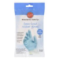 Western Family Western Family - Foam Lined Rubber Gloves - Small/Medium, 1 Each