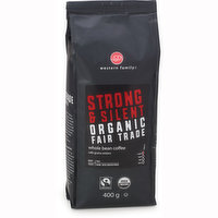 Western Family - Organic Whole Bean Coffee - Strong & Silent, 400 Gram