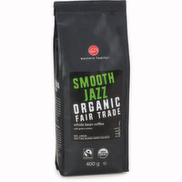 Organic, fair trade coffee. Medium bodied, smooth and well balanced taste with low acidity.