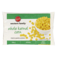 Frozen whole kernel corn. Individually quick frozen. Canada A.