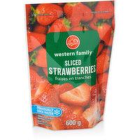 Unsweetened Strawberries Sliced for your Convenience.