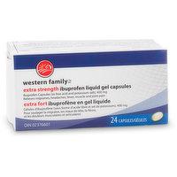 Western Family Western Family - Extra Strength Ibuprofen Liquid Capsules 400mg, 24 Each