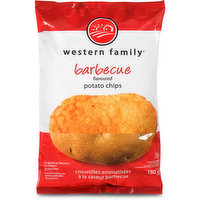 Western Family - Potato Chips- Barbecue, 180 Gram