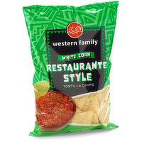 Western Family - Tortilla Chips - White Corn, 300 Gram