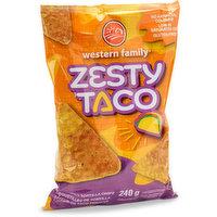 Western Family - Tortilla Chips Zesty Taco, 240 Gram