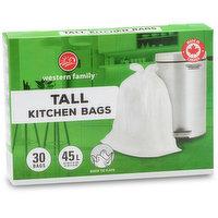 30 Plastic Bags. Fits 42.5L. Quick Tie Flaps.59.6 x 69.8cm.