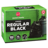 Western Family - Strong Garbage Bags Regular, 100 Each
