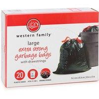 Large 76.2 x 83.8cm Plastic Bags. Fits 77-83L.