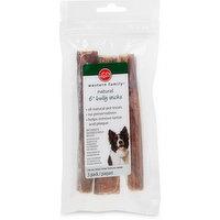 "Western Family - Dog Treats - Natural 6"" Bully Chew Sticks"