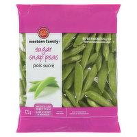 Western Family - Sugar Snap Peas, 425 Gram