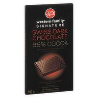 Western Family - Swiss Dark Chocolate Bar 85% Cocoa