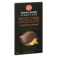 Fine Dark Chocolate Imported from Switzerland. Rich and Tense with Zesty Bursts of Orange Flavour.