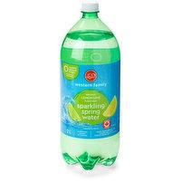 Western Family - Lemon Lime Sparkling Water, 2 Litre