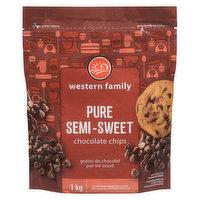 Western Family - Pure Semi-Sweet Chocolate Chips, 1 Kilogram