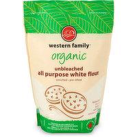 Western Family Western Family - Organic All Purpose Flour - Unbleached, 2 Kilogram