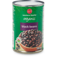 Western Family Western Family - Organic Black Beans, 398 Millilitre