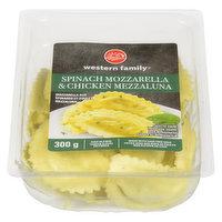 Western Family - Spinach Mozzarella & Chicken Mezzaluna, Fresh