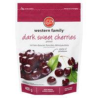 Western Family - Dark Sweet Pitted Cherries, Frozen, 400 Gram