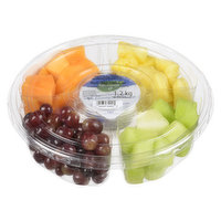 Fresh cut mango, pineapple, honeydew & cantaloupe with a creamy vanilla yogurt dip. May contain watermelon, strawberries, blueberries or grapes. Fruit is Changed out Seasonally.