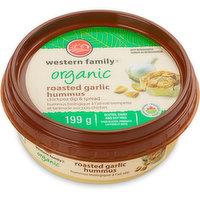 Western Family - Organic Hummus, Roasted Garlic, 199 Gram