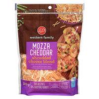 Mozzarella & Cheddar Cheeses. Resealable Bag.