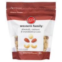 Western Family Western Family - Almonds, Cashews & Macadamia Nuts, 275 Gram