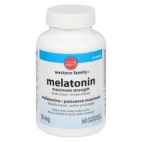 Western Family - Melatonin Maximum Strength Dual Action 10mg
