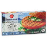 Western Family - West Coast Wild Pink Salmon Burgers, 4 Each